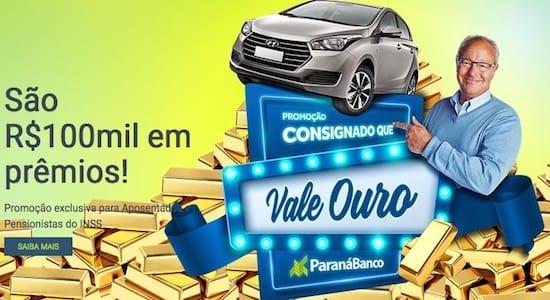 Promoção Consignado Que Vale Ouro ParanáBanco