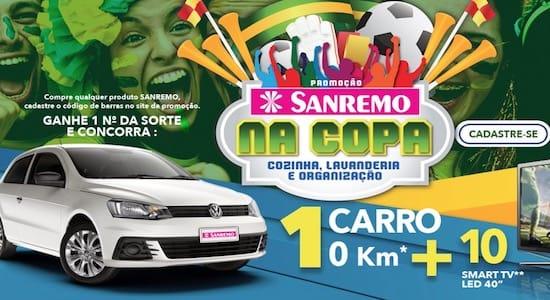 Cadastrar Promoção SANREMO na Copa Cozinha